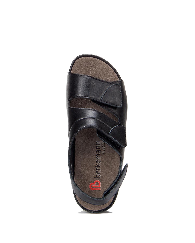 Berkemann Kadın Sandalet 1020 Schwarz Leder/Strc. - 906
