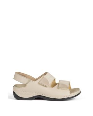 Berkemann Kadın Sandalet 1020 Beige Leder Stretch - 725