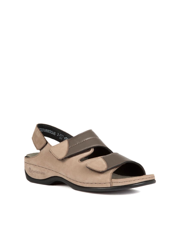 Berkemann Kadın Sandalet 1020 Stone Nubuk / Grau Strc. - 988