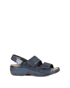 Berkemann Kadın Sandalet 1020 Blue Metallic Leather - 382