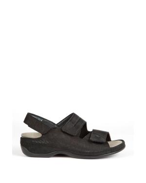 Berkemann Kadın Sandalet 1020 Schwarz Kroko/Str. - 955