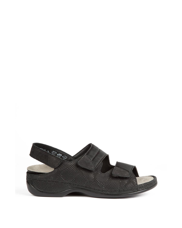 Berkemann Kadın Sandalet 1020 Nubuk Schwarz/Str - 921