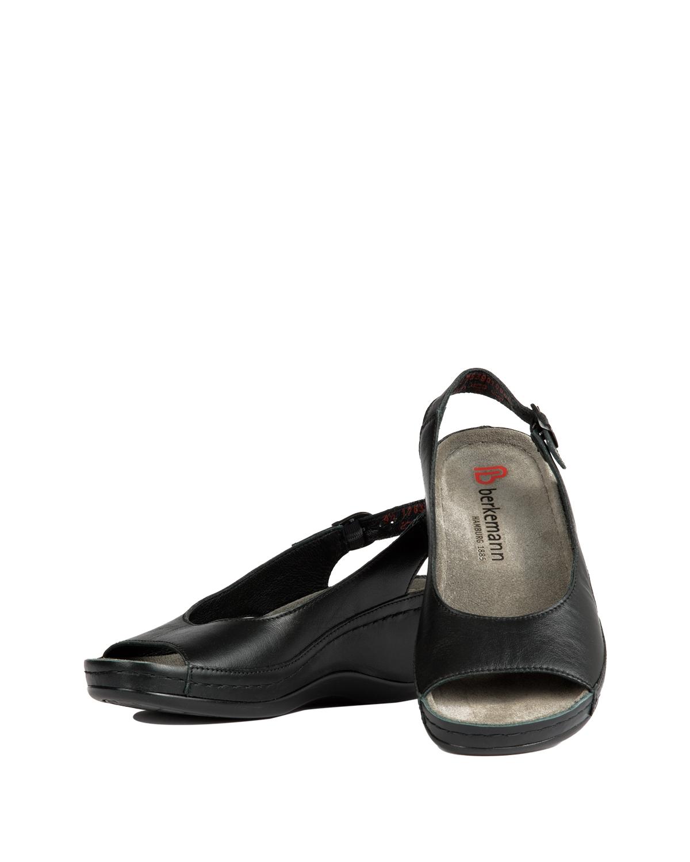 1763 Berkemann Kadın Sandalet 3.0-8.5 Schwarz Kalbsleder - 901