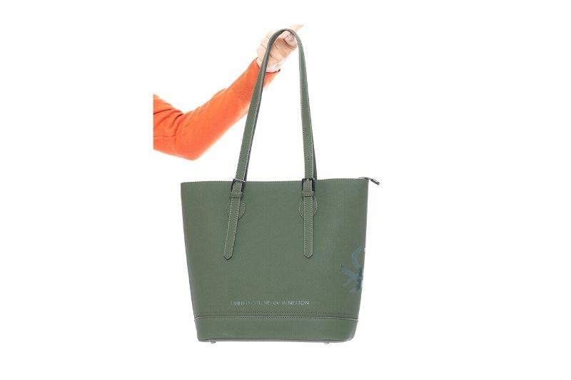 kemer askılı kadın haki kol çantası