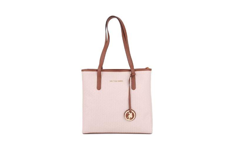 pudra renkli klasik kadın kol çantası