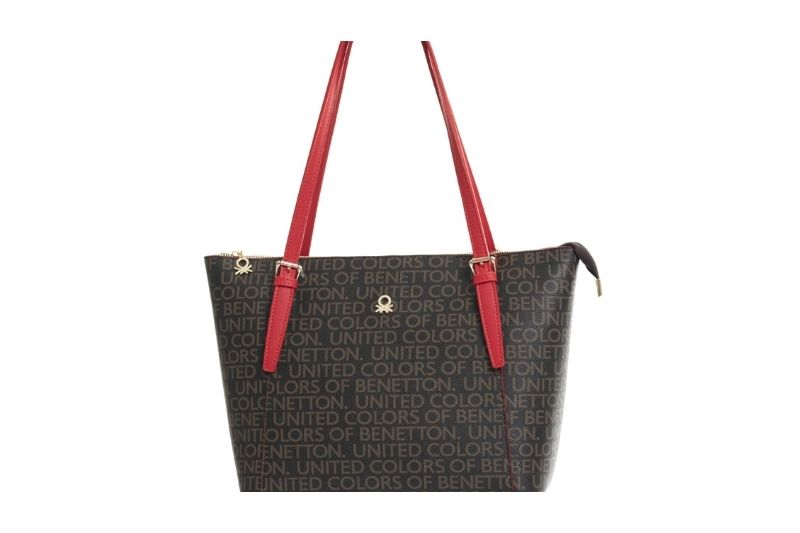 kahve kırmızı mono kadın omuz çantası