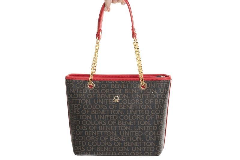 monogram zincir askılı kahve kırmızı kadın omuz çantası