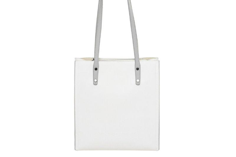 nano klasik kadın beyaz omuz çantası