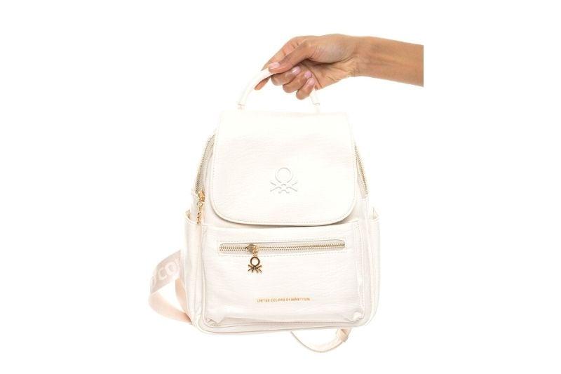 kapaklı beyaz small kadın sırt çantası