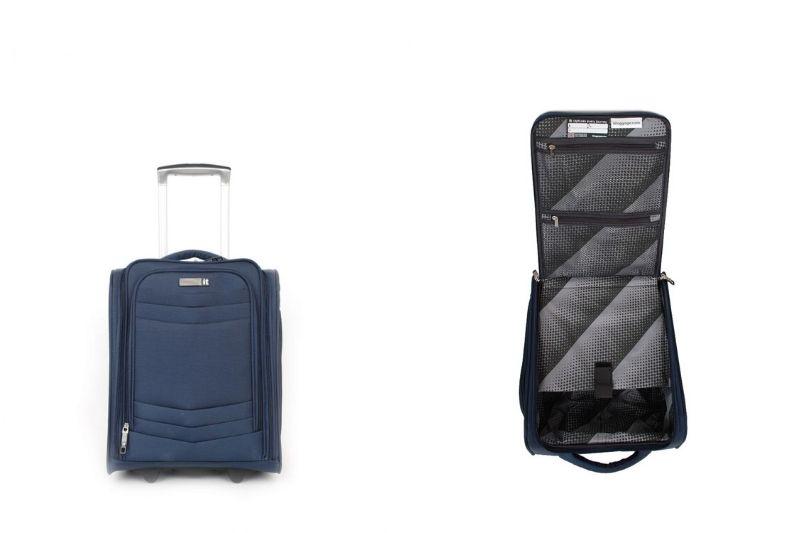 IT Luggage Intrepid Koltuk Altı Kumaş Yüzeyli Valiz - Mavi