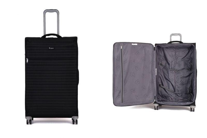 IT Luggage Quilte Semi Körüklü Büyük Boy Valiz - Siyah