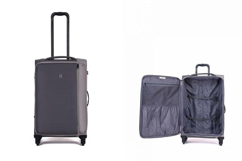 IT Luggage Divison Orta Boy Kumaş Valiz Pewter - Grey