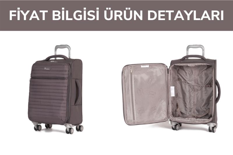 IT Luggage Quilte Semi Körüklü Kabin Boy Valiz Koyu Gri