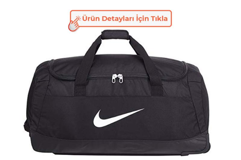 Nike Club Team Swoosh Roller Spor Çantası Siyah