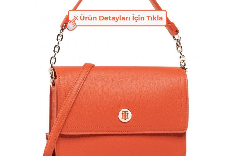 Tommy Hilfiger Honey Shoulder Bag Kadın El Çantası Tucson Orange