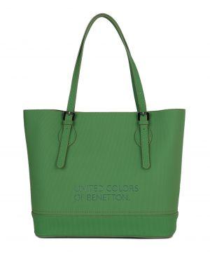 Benetton Kemer Askılı Kadın Kol Çantası BNT_72 Yeşil