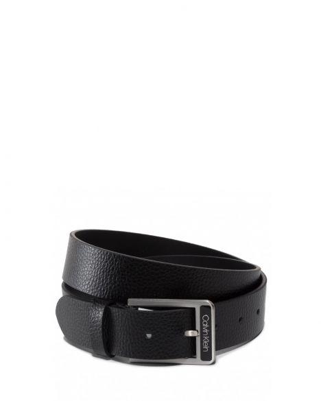 Calvin Klein 100Cm 40 Inch Enamel Buckle Pebble Erkek Kemer K50K505494 Black