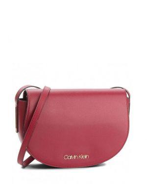 Calvin Klein Frame Med Saddle Çapraz Kadın Çantası K60K604451 Bordo