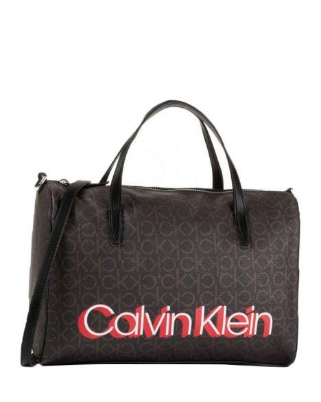 Calvin Klein Monogram Duffel K60K605627 Brown Mono