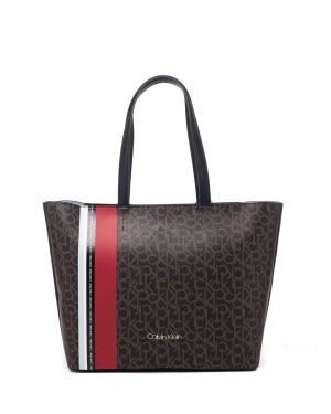 Calvin Klein Monogram Ew Shopper Kadın Çantası K60K605083 Ck Mono Brown