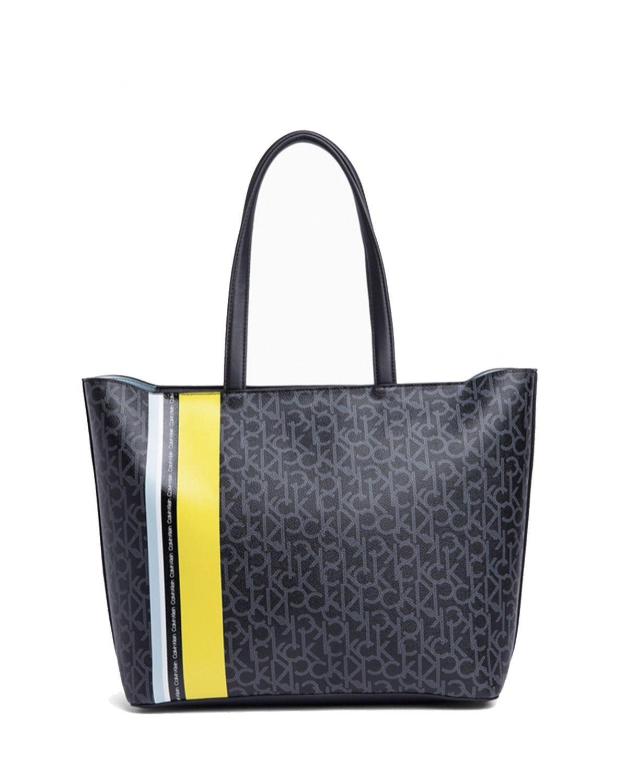 Calvin Klein Monogram Ew Shopper Kadın Çantası K60K605083 Ck Mono Black