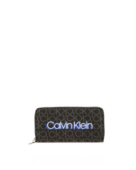 Calvin Klein Monogram Kadın Cüzdanı K60K605680 Black Mono