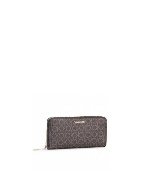 Calvin Klein Must Lrg Kadın Cüzdanı K60K605894 Brown Mono