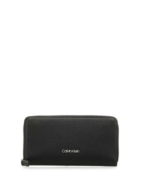 Calvin Klein Must Ziparound Wallet Lg Kadın Cüzdanı K60K606374 Black