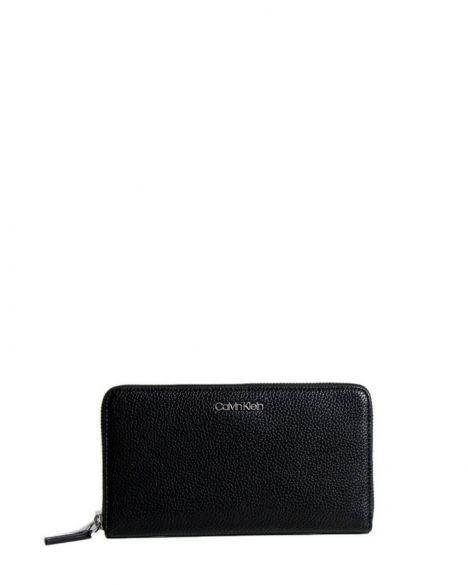 Calvin Klein Neat Ziparound Xl Kadın Cüzdanı K60K606528 Black