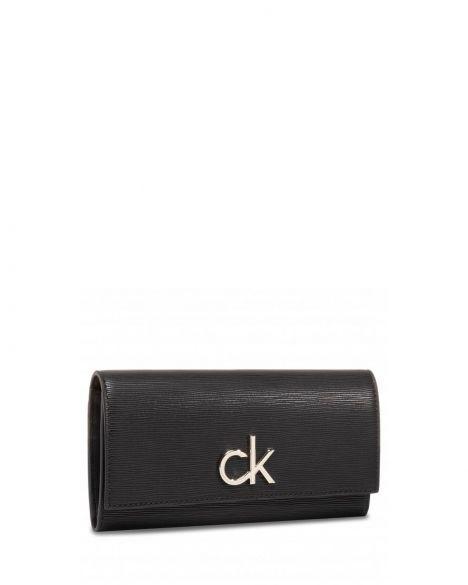 Calvin Klein Re-Lock Trıfold Wallet Lg Ep Kadın Cüzdanı K60K606657 Black