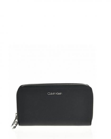 Calvin Klein Stitch Double Kadın Cüzdanı K60K604864 Black