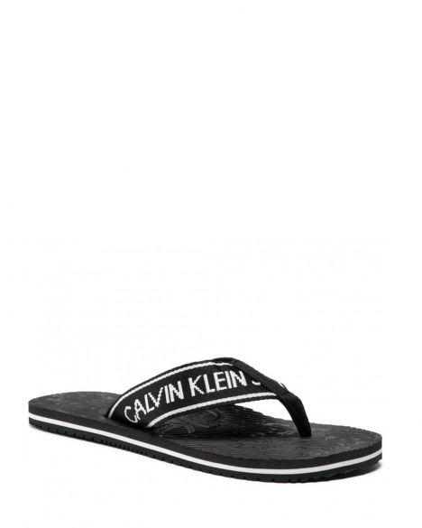 Calvin Klein Beach Sandal Institutional Pes Parmak Arası Erkek Terlik YM0YM00059 Black
