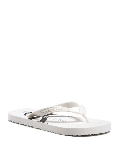 Calvin Klein Beach Sandal Monogram Parmak Arası Kadın Terlik YW0YW00098 Bright White