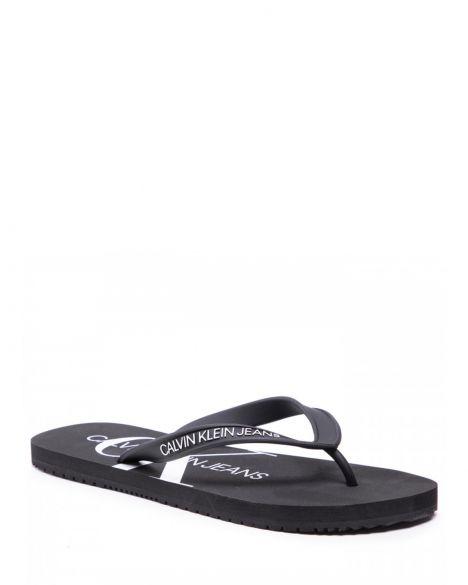 Calvin Klein Beach Sandal Monogram Tpu Parmak Arası Erkek Terlik YM0YM00055 Black
