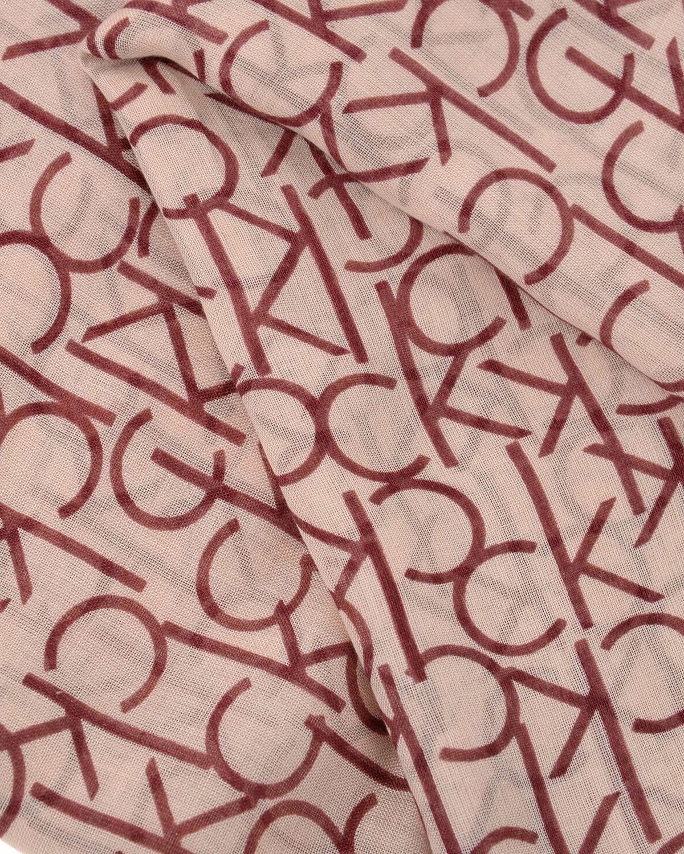 Calvin Klein Ck Allover Logo Şal K60K604261 Bordeaux