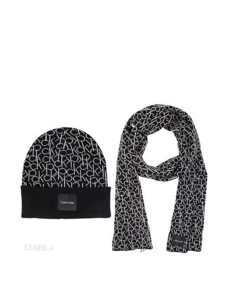 Calvin Klein Ck Knitted Atkı Ve Bere Takımı K50K504136 Black