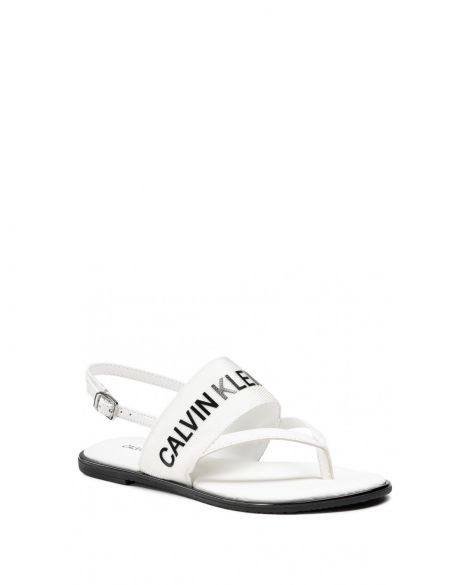 Calvin Klein Flat Sandal Toe Pl Kadın Sandalet YW0YW00025 Bright White