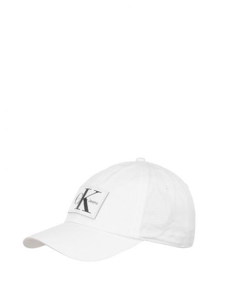 Calvin Klein J Re-İssue Leather Patch Baseball Cap W Şapka K40K400081 White