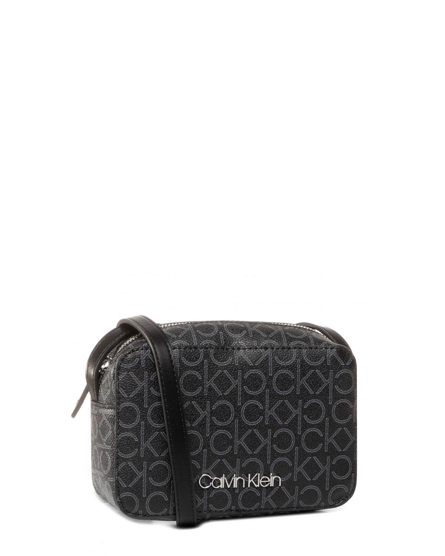 Calvin Klein Mono Camerabag Çapraz Askılı Kadın Çantası K60K606566 Black Mono