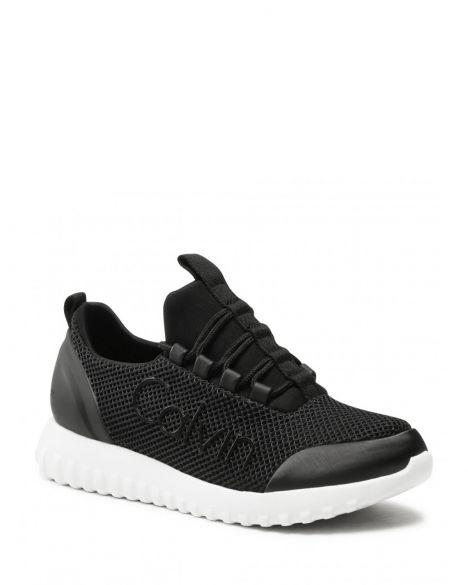Calvin Klein Runner Sneaker Laceup Mesh Kadın Sneakers YW0YW00165 Black