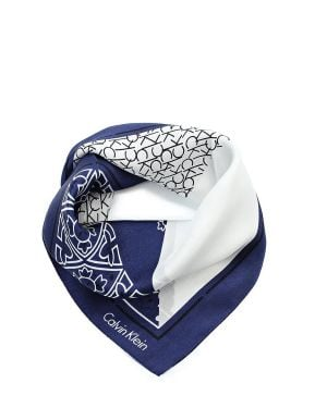 Calvin Klein Silk Logo Mix Bandana Şal K60K604250