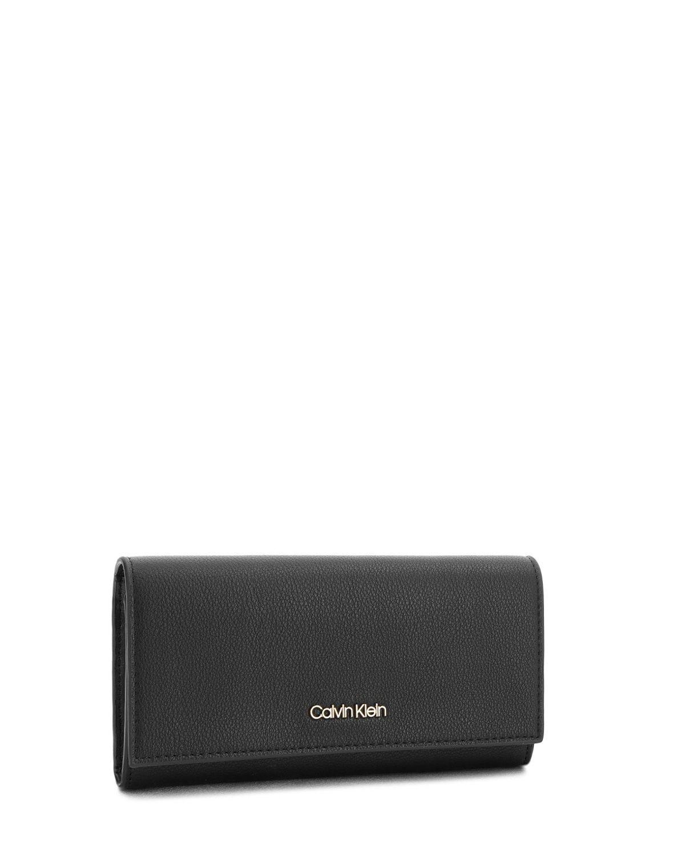 Calvin Klein Step Up Large Trifold Kadın Cüzdanı K60K604342 Black
