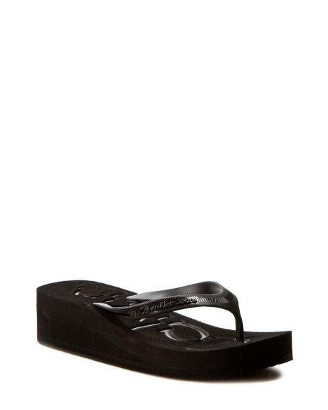 Calvin Klein Tamber Jelly Cjw Parmak Arası Kadın Terlik 00000R4117 Black / Black / Black
