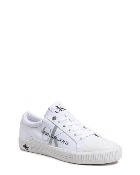 Calvin Klein Vulcanized Laceup Pes Kadın Sneakers YW0YW00043 Bright White
