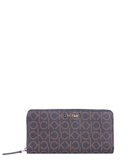 Calvin Klein Z/a Wallet Lg Kadın Portföyü K60K607451 Brown Mono Mix