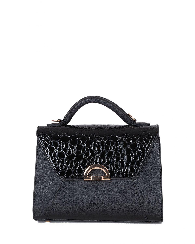 DSN Kadın El Çantası Y5199 Siyah - Kroko