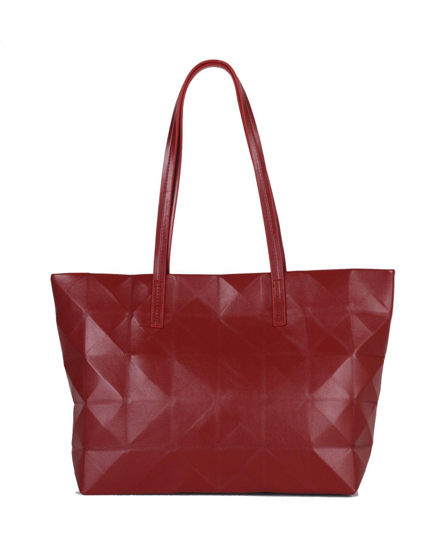 DSN Geometrik Kabartma Desenli Kadın Kol Çantası B30411 Kırmızı