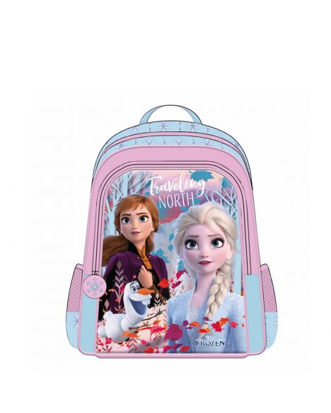 Frozen Elsa-Anna Hawk Travelling North Kız Çocuk İlkokul Çantası OTTO-5671 Pembe - Mavi