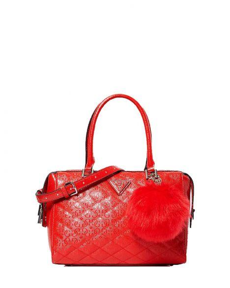 Guess Astrid Box Satchel Kadın El Çantası SG747906 Red