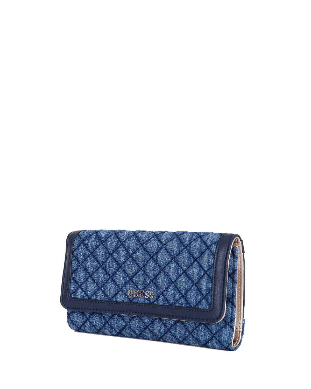 Guess Kadın Sienna Denim Cüzdanı VD709965 Blue